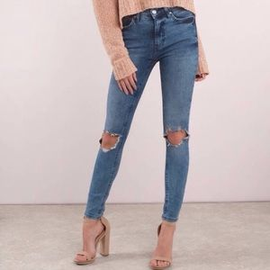 NWT Free People High Rise Busted Skinny